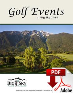 Golf Events At Big Sky Golf Club
