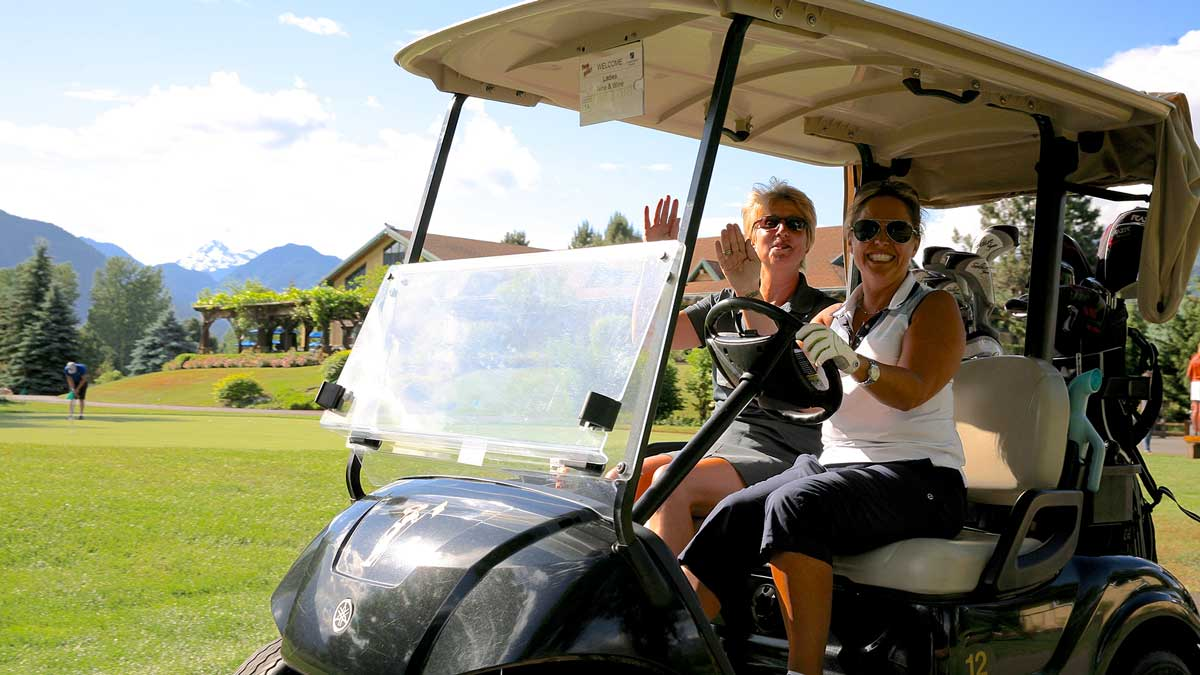 Smiles at golf events