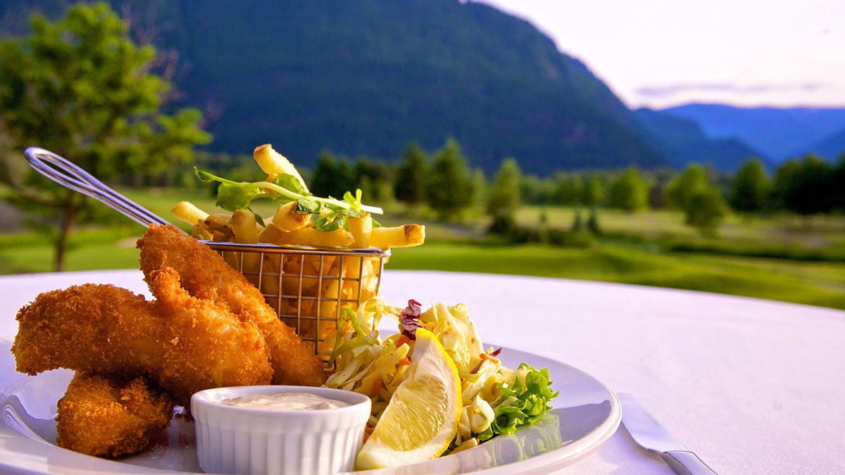 Fish & Chips at Fescues Restaurant Pemberton BC